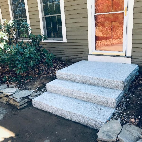 custom design and installation front steps