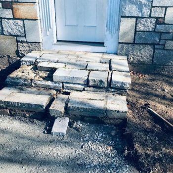 dp turf hardscape landscape and design MA granite stairs